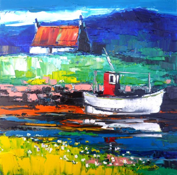4.Boat and Bothy, Berneray, North Uist