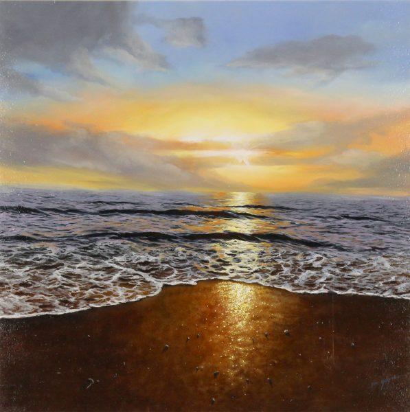 Ben Goymour_Original_Acrylics_Golden Sunset I_UNFRAMED