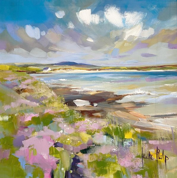 Kate Philp_Pink Thrift, Orkney_12x12_695_unframed