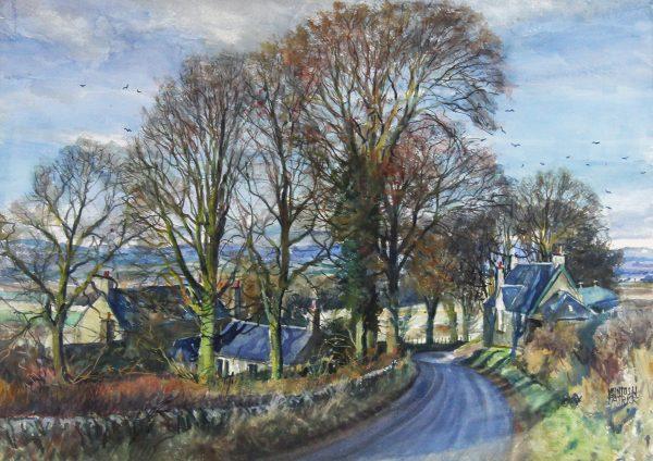 McIntosh Patrick (lighten)_Near Newtyle, Glamis Road_c.1981_5000_20.5x29.5_31x40_Bears artists label