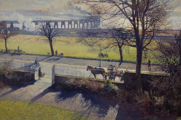 Tay Bridge from my studio window (2nd edition) _Remove spot_Signed_2nd Edition Published 1983_Frame with standard_450