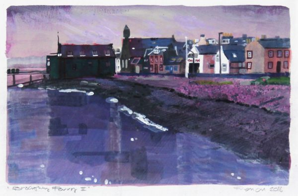 1 Stephen French _Original_Mixed Media_ Broughty Ferry I _ unframed 6x10- framed 14 x 18 (2)